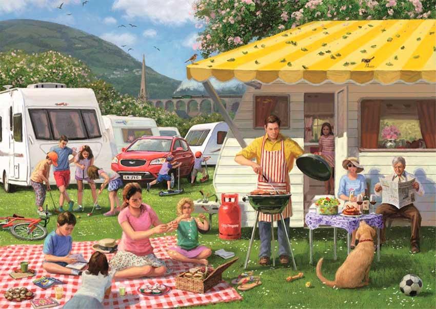 Puzzle Falcon Vacaciones en Familia de 500 Piezas