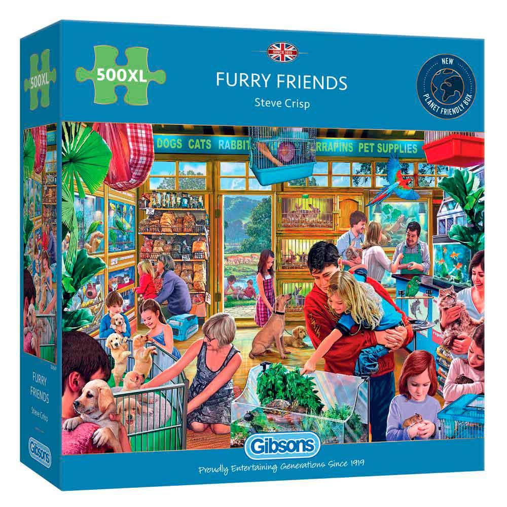 Puzzle Gibsons Amigos Peludos XXL de 500 Piezas