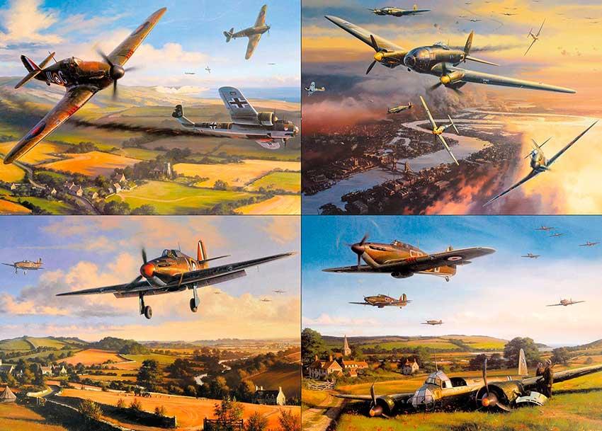 Puzzle Gibsons Aviones Británicos de Combate de 1000 Piezas