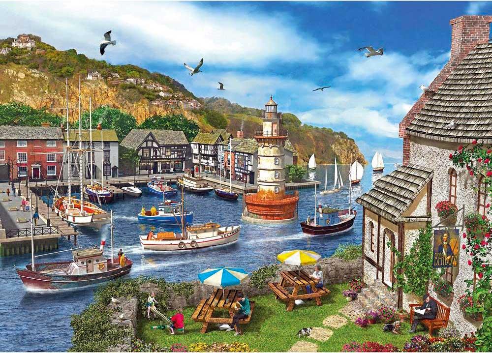 Puzzle Gibsons Bahía del Faro de 1000 Piezas