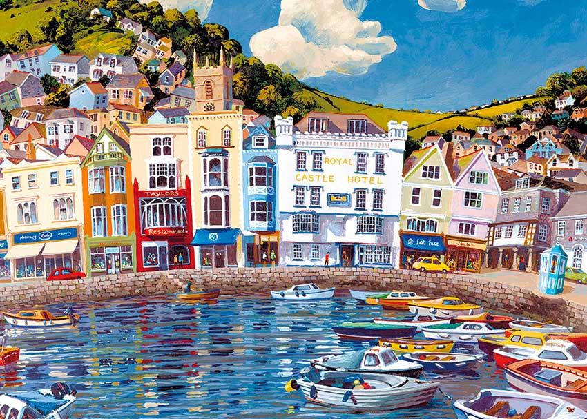 Puzzle Gibsons Barcos Flotando  de 1000 Piezas