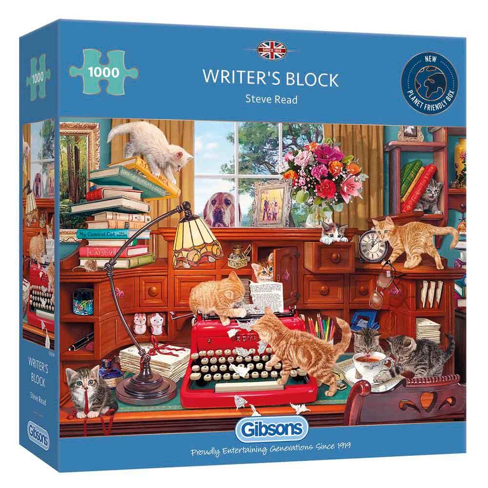 Puzzle Gibsons Bloqueo de Escritor de 1000 Piezas