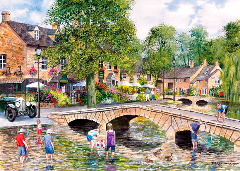 Puzzle Gibsons Bourton On The Water de 1000 Piezas