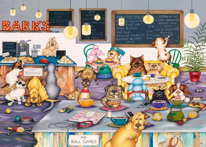 Puzzle Gibsons Café para Perros de 1000 Piezas