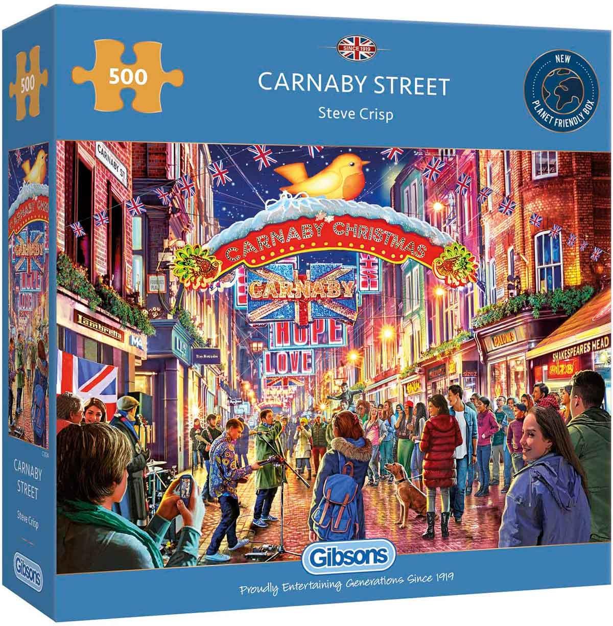 Puzzle Gibsons Carnaby Street en Navidad de 500 Piezas
