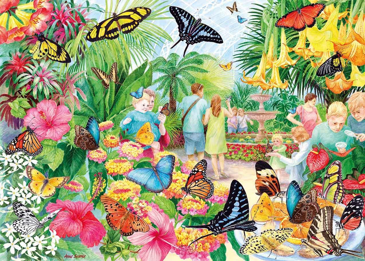 Puzzle Gibsons Casa de las Mariposas de 1000 Piezas