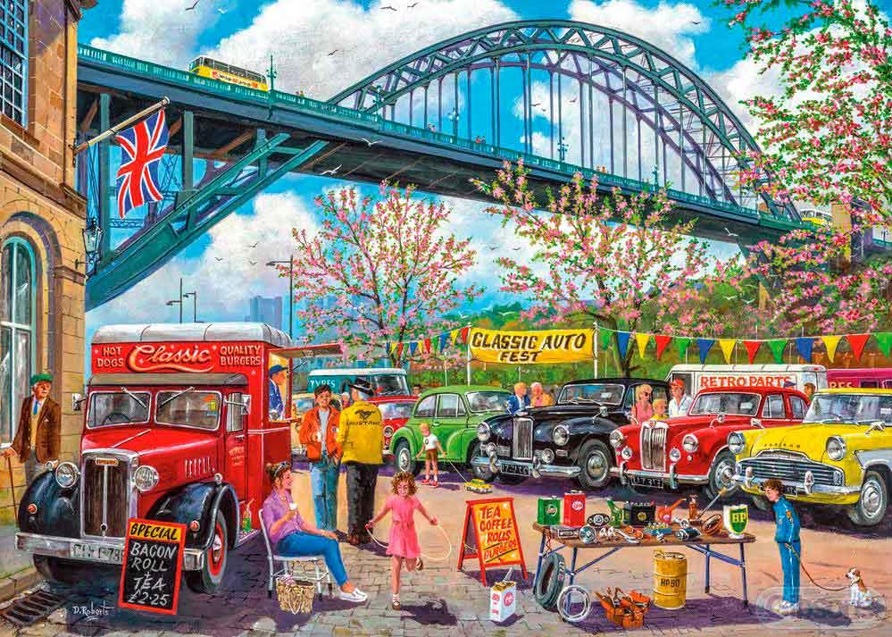 Puzzle Gibsons Ciudad de Newcastle de 1000 Piezas