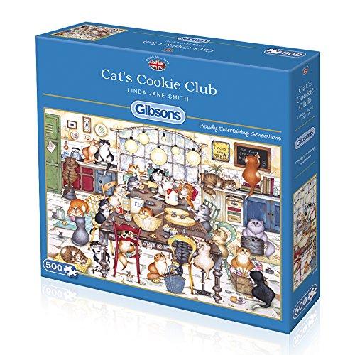 Puzzle Gibsons Club de Galletas Gatuno de 500 Piezas
