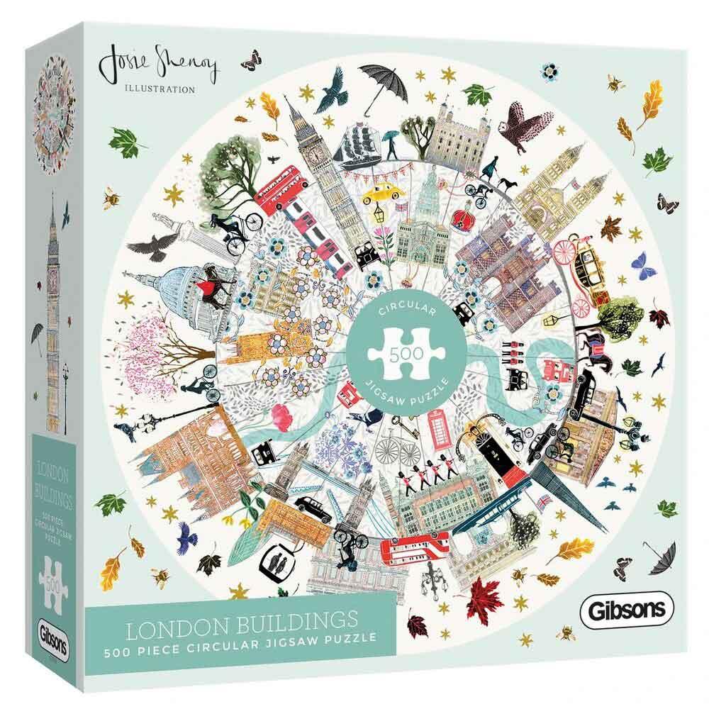 Puzzle Gibsons Edificios de Londres de 500 Piezas