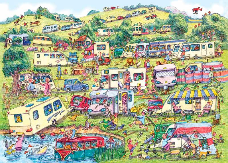 Puzzle Gibsons El Camping de 1000 Piezas