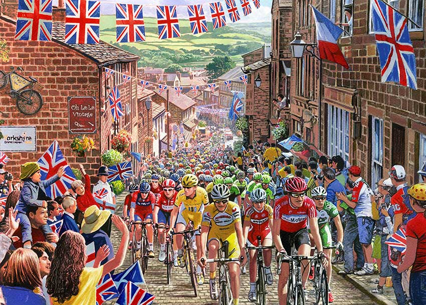 Puzzle Gibsons El Tour de Yorkshire  de 1000 Piezas