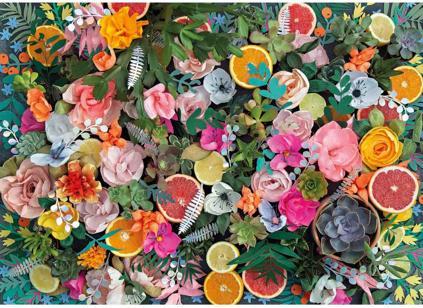Puzzle Gibsons Flores de Papel de 1000 Piezas
