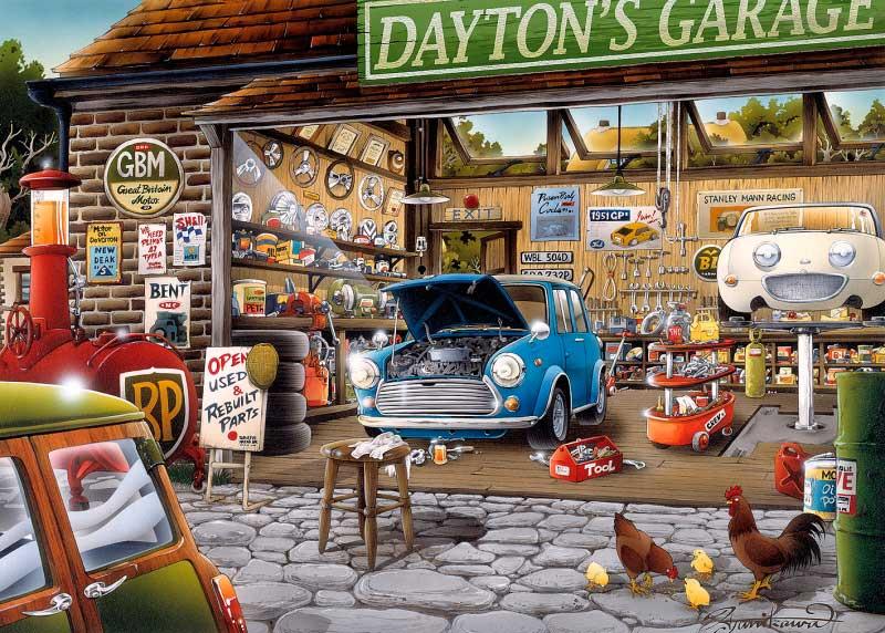 Puzzle Gibsons Garage Dayton de 1000 Piezas