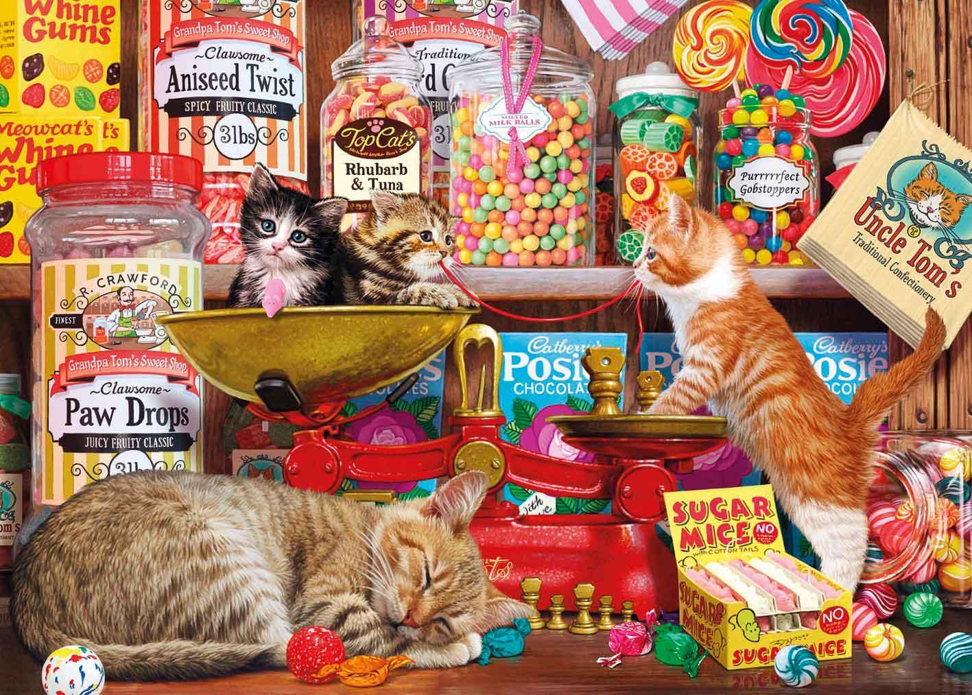 Puzzle Gibsons Gatitos y Ratones de Azúcar de 500 Piezas XXL