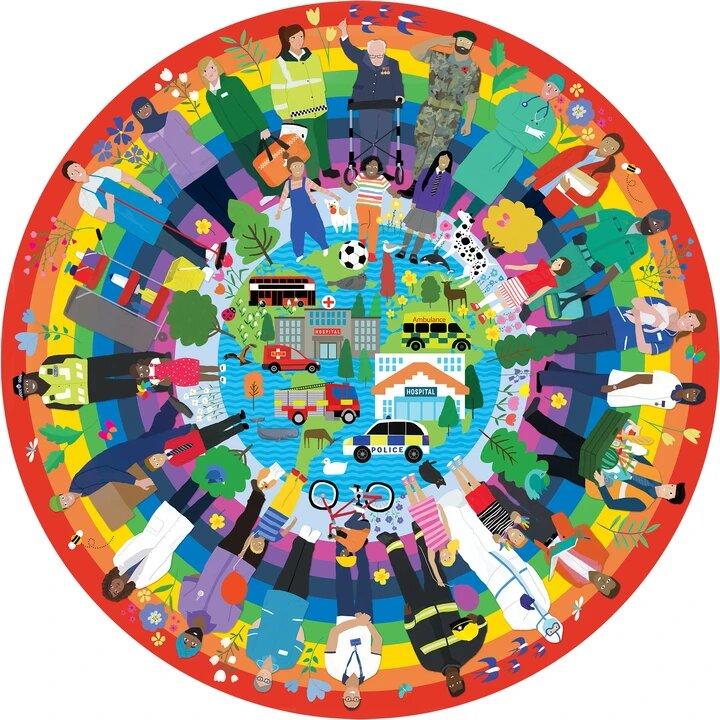 Puzzle Gibsons Héroes del Arco Iris de 500 Piezas