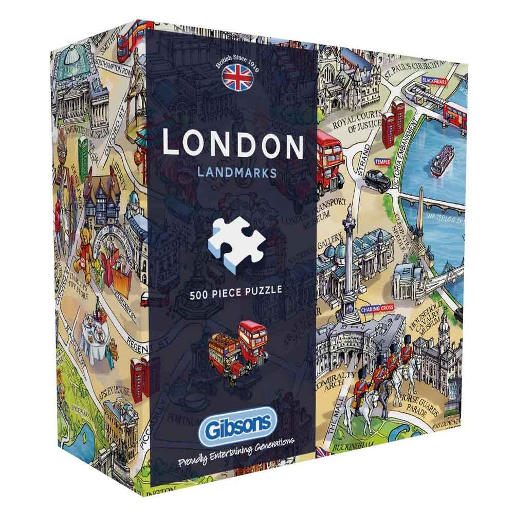 Puzzle Gibsons Hitos de Londres de 500 Piezas