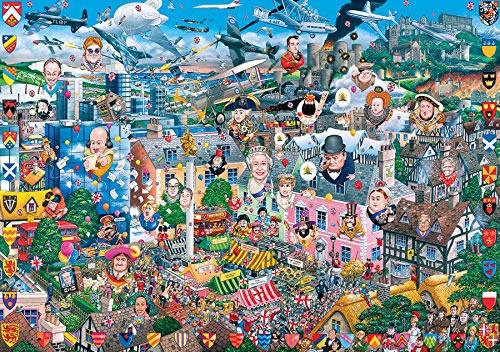 Puzzle Gibsons I Love, Gran Bretaña de 1000 Piezas