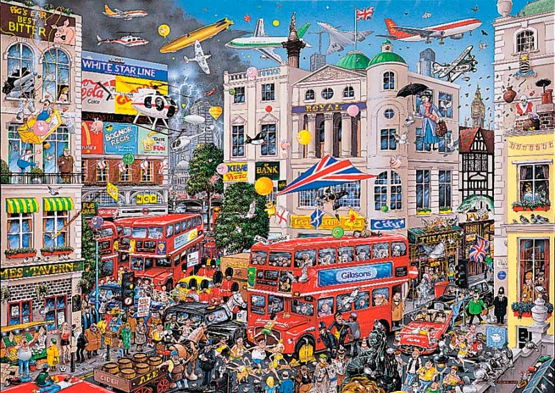 Puzzle Gibsons I Love London de 1000 Piezas