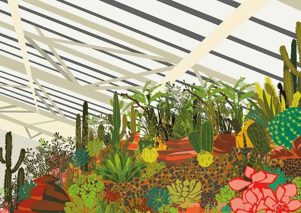 Puzzle Gibsons Invernadero de Cactus de 500 Piezas