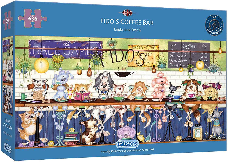 Puzzle Gibsons La Cafeteria de Fido de 636 Piezas