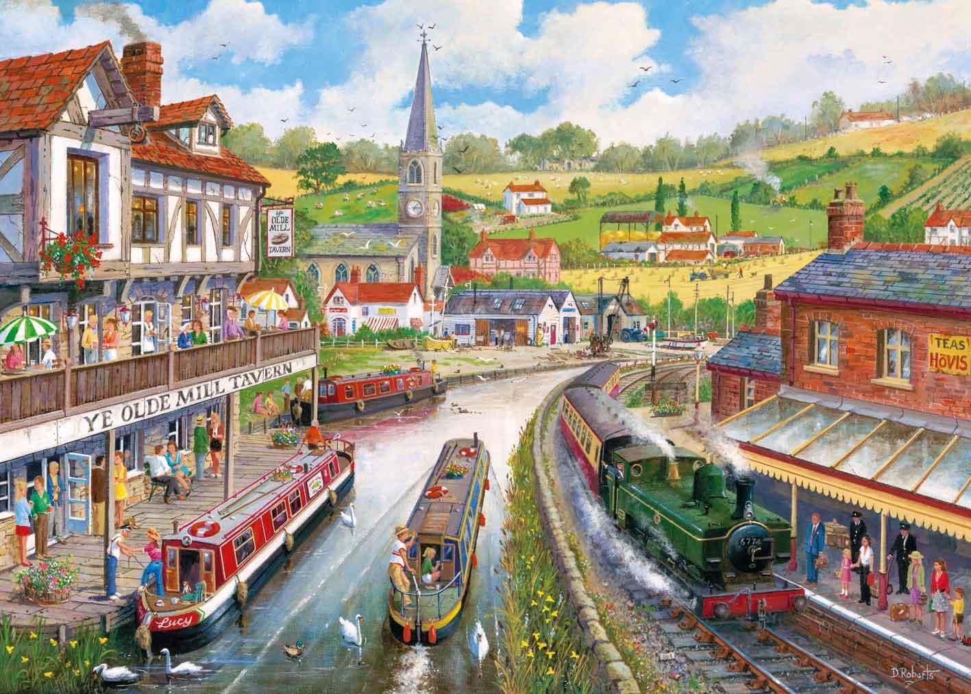 Puzzle Gibsons La Taberna Ye Olde Mill de 1000 Piezas