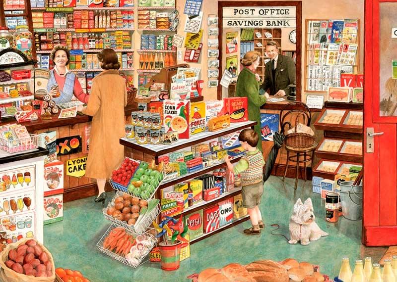 Puzzle Gibsons La Tienda del Pueblo de 1000 Piezas