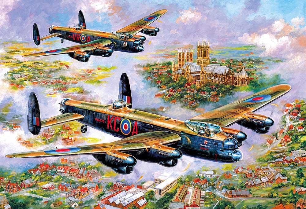 Puzzle Gibsons Lancasters sobre Lincoln de 500 Piezas