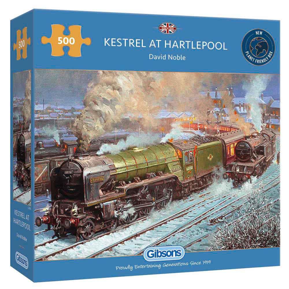 Puzzle Gibsons Locomotora Kestrel en Hartlepool de 500 Piezas