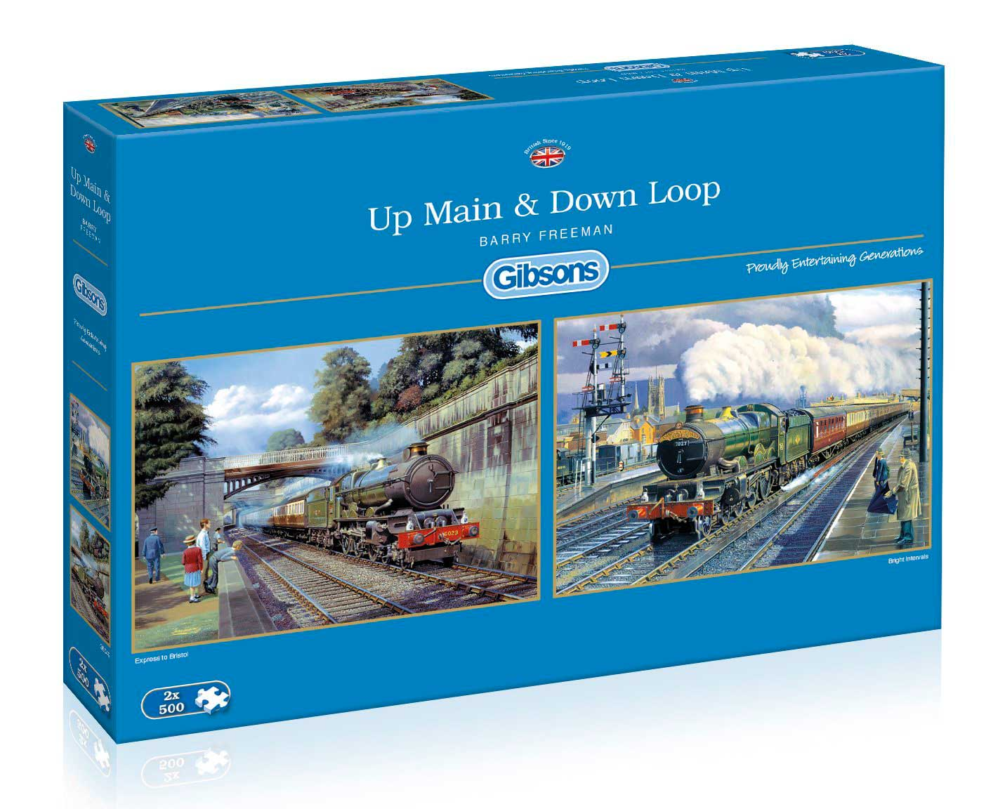 Puzzle Gibsons  Locomotoras: Principal y Circuito, 2 x 500 Pieza