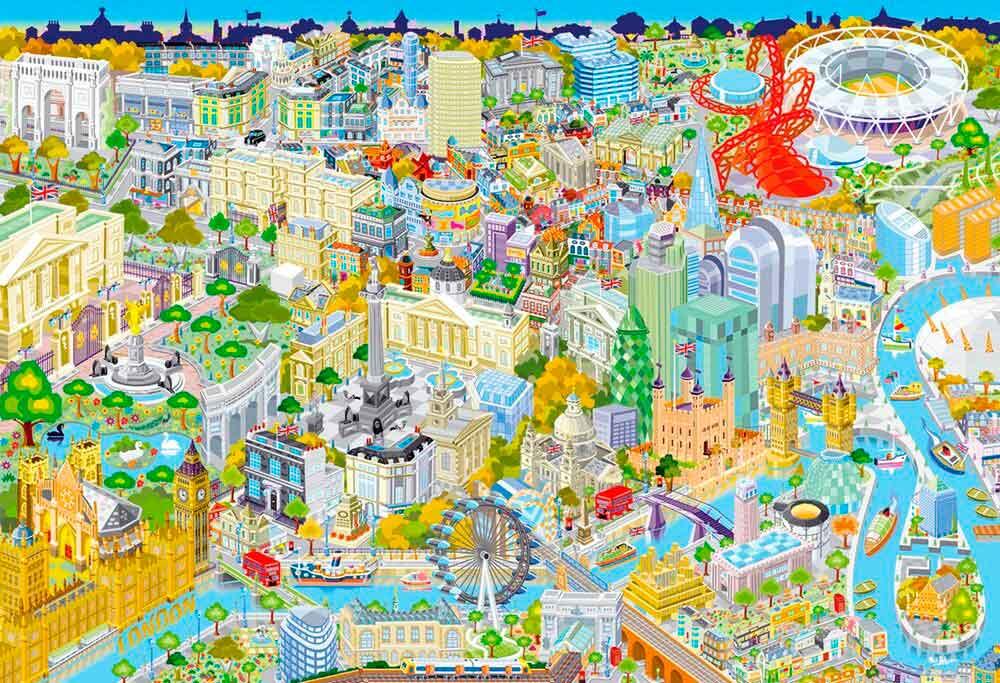 Puzzle Gibsons Londres Desde Arriba de 500 Piezas