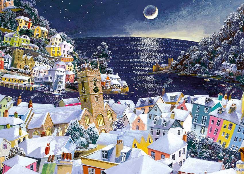 Puzzle Gibsons Luna de Navidad  de 1000 Piezas