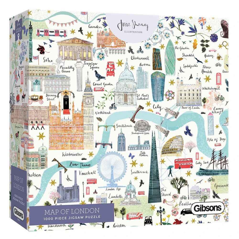 Puzzle Gibsons Mapa de Londres de 1000 Piezas
