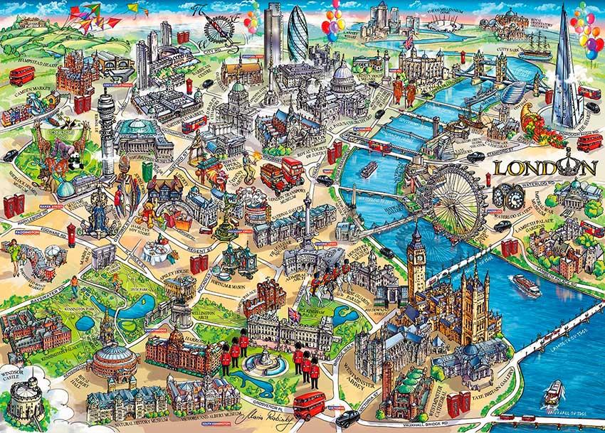 Comprar Puzzle Gibsons Mapa Tur 237 Stico De Londres De 1000