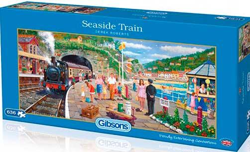 Puzzle Gibsons Mar y Tren de 636  Piezas