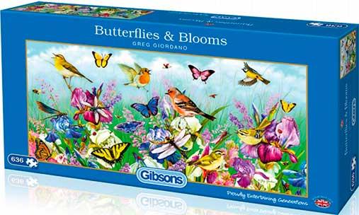 Puzzle Gibsons Mariposas y Flores de 636  Piezas