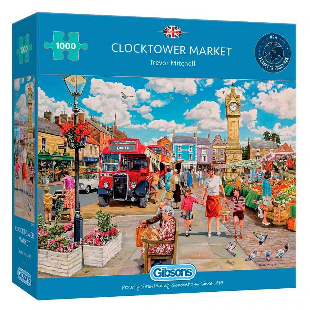 Puzzle Gibsons Mercado de la Torre del Reloj de 1000 Piezas