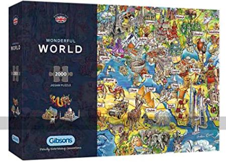 Puzzle Gibsons Mundo Maravilloso de 2000 Piezas