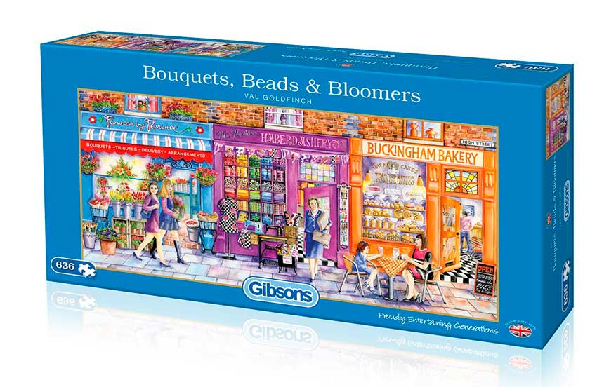 Puzzle Gibsons Calle Comercial 636  Piezas