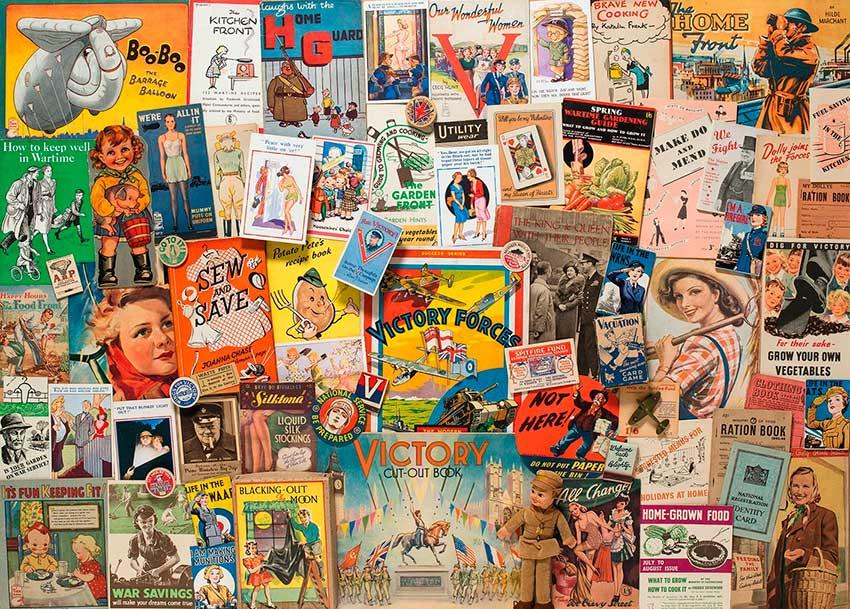 Puzzle Gibsons Recuerdos de la Segunda Guerra Mundial 1000 Pieza
