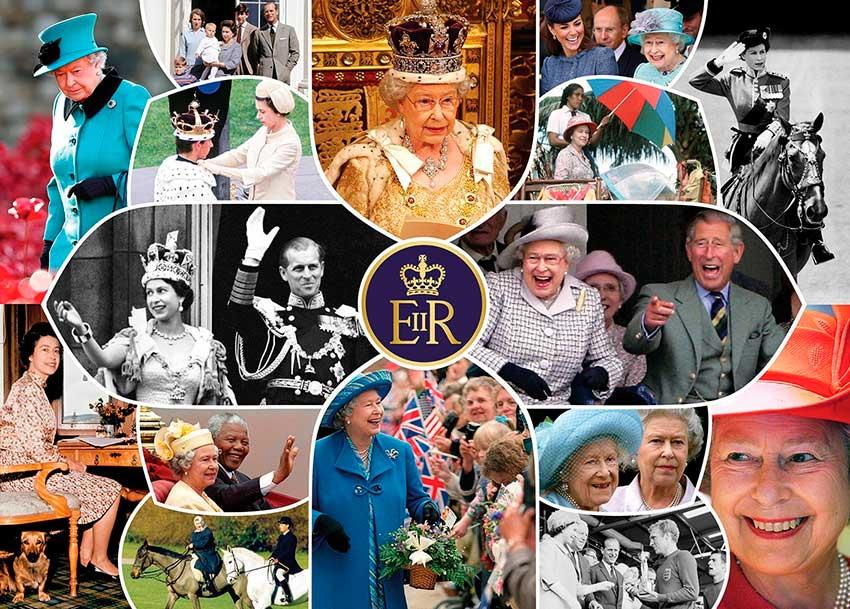 Puzzle Gibsons Reina Isabel II, Largo Reinado de 1000 Piezas