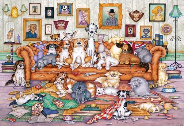 Puzzle Gibsons Reunión de Perros de 500 Piezas
