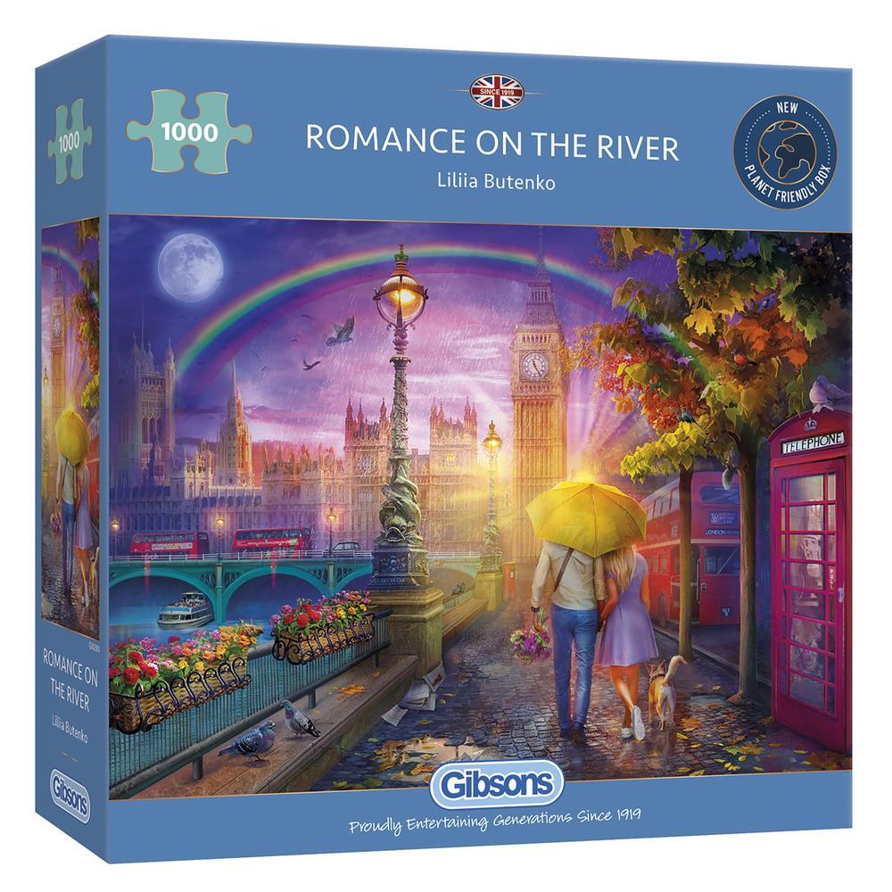 Puzzle Gibsons Romance en el Río de 1000 Piezas