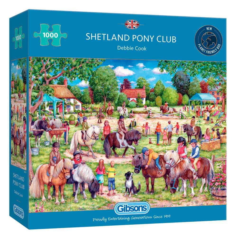 Puzzle Gibsons Shetland Pony Club de 1000 Piezas