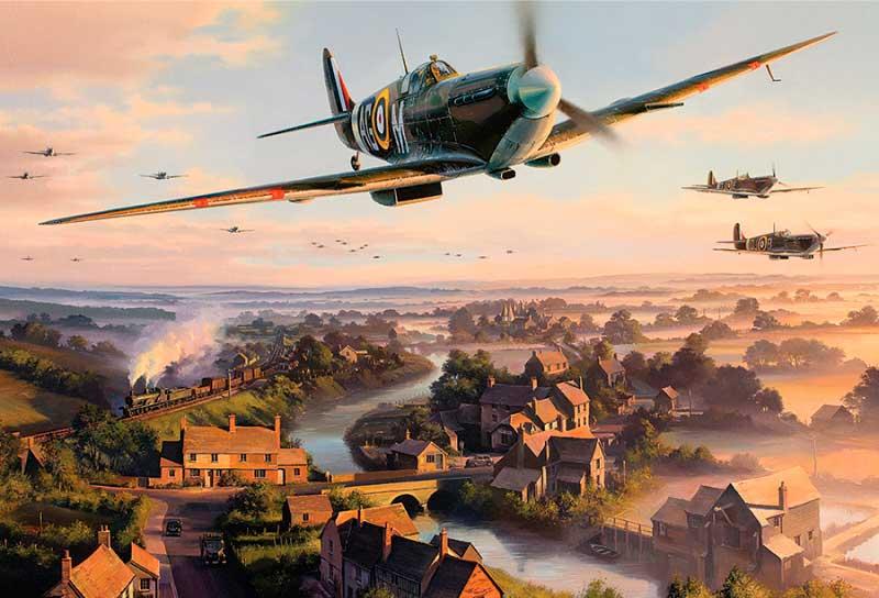 Puzzle Gibsons Sobrevolando Normandía de 500 Piezas