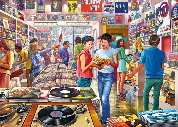 Puzzle Gibsons Tienda de Discos Retro de 1000 Piezas