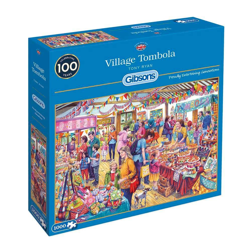 Puzzle Gibsons Tómbola de Pueblo de 1000 Piezas