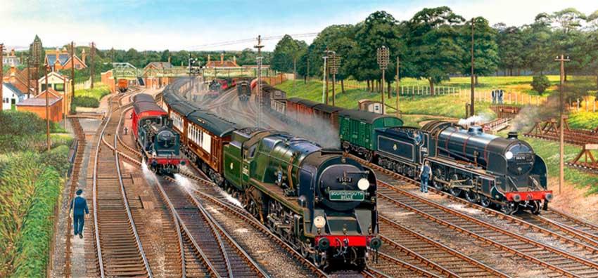 Puzzle Gibsons Trenes en Inglaterra de 636  Piezas