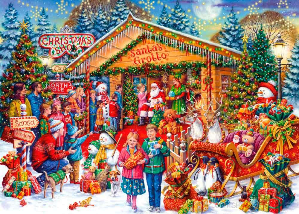 Puzzle Gibsons Visitando a Papá Noel de 1000 Piezas