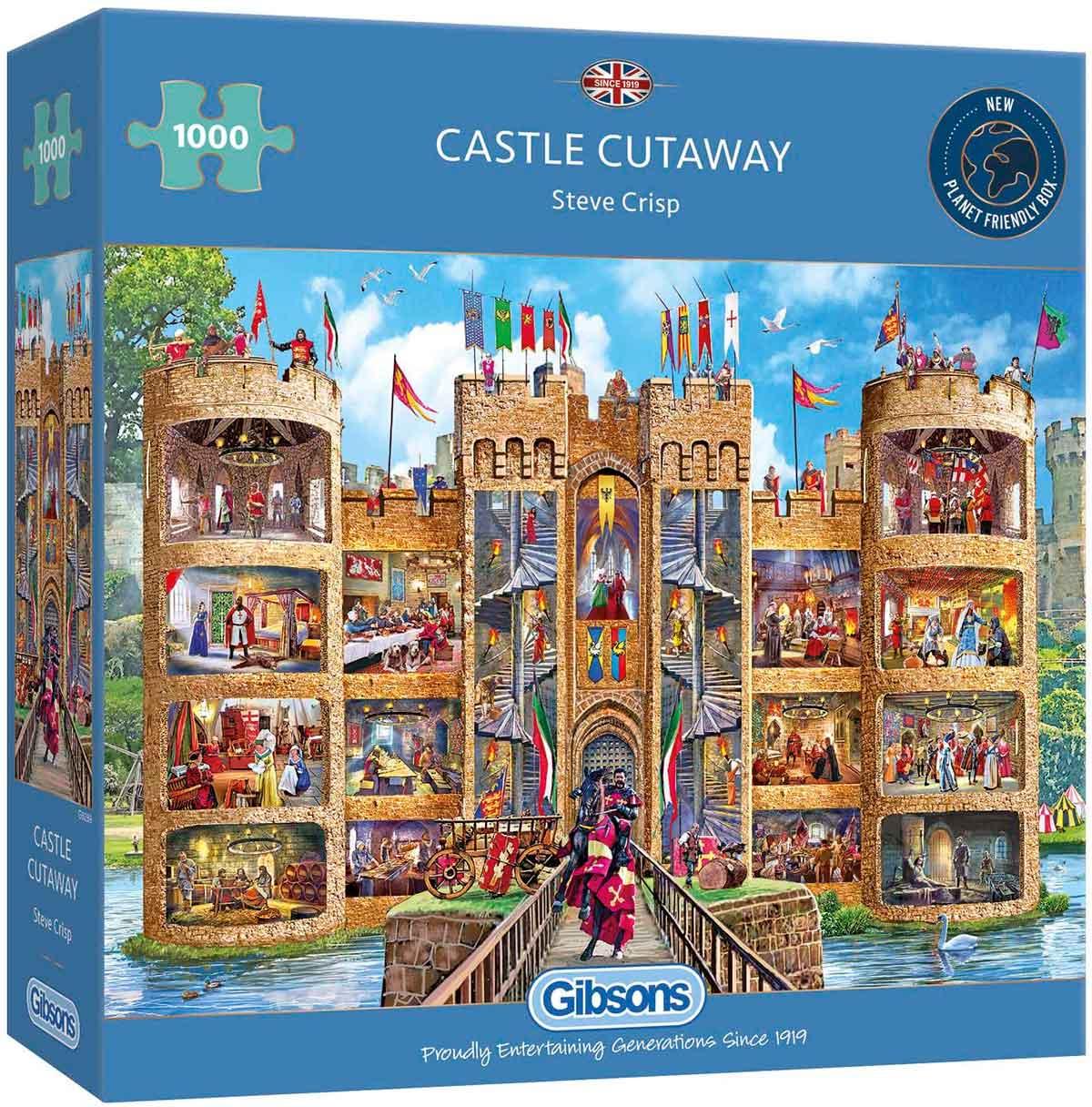 Puzzle Gibsons Vistas Interiores del Castillo de 1000 Piezas