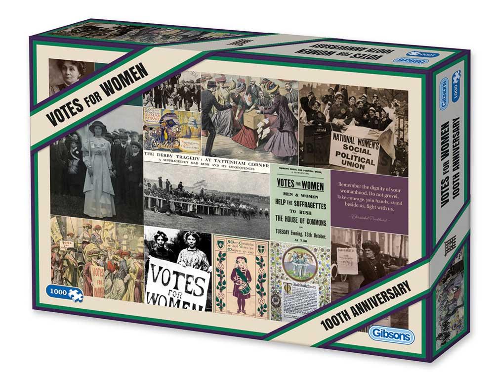 Puzzle Gibsons Voto para la Mujer (100º Aniv.) de 1000 Piezas